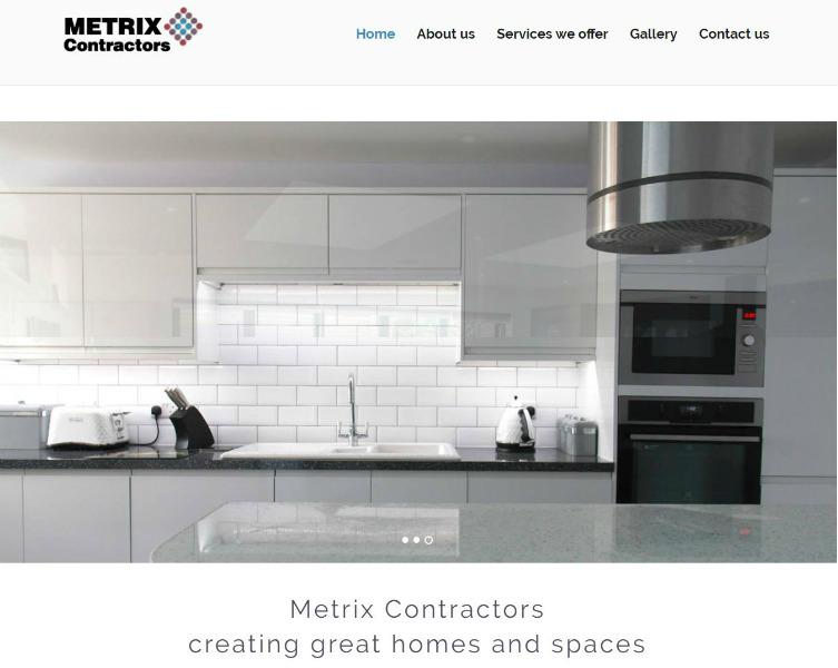 Metrix Contractors homepage